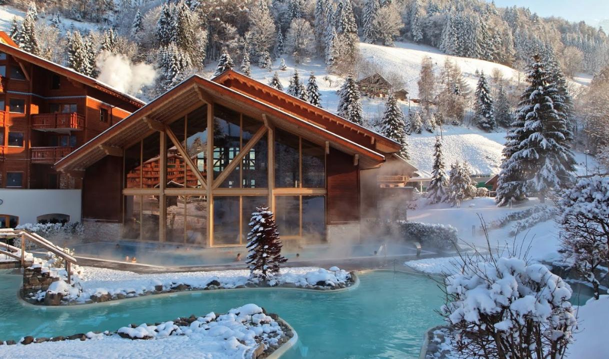 Les Thermes SPA de Val D'Illiez bel appartement avec terrasse et pelouse privative